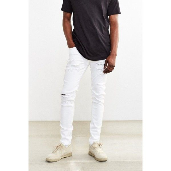 Mens White Slim Jeans